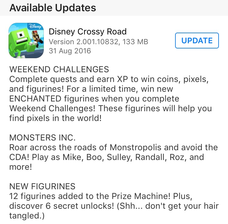 DISNEY CROSSY ROAD Monsters, Inc. Update